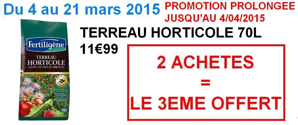 Promotion horticole 70L