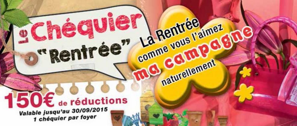 Chéquier réduction 150€