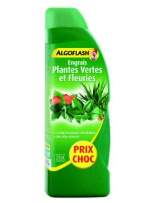 ENGRAIS PLANTES VERTES ET FLEURIES LIQUIDE 800ml +25% GRATUIT ALGOFLASH