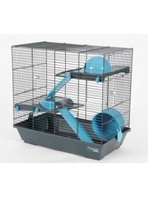 Cage indoor 50 hamster bleu