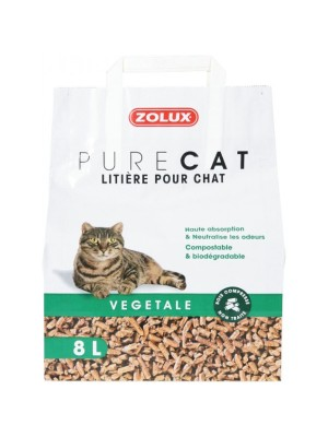LITIERE PURE CAT VEGETALE NATURELLE 8L ZOLUX