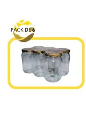 Pack 6 pots