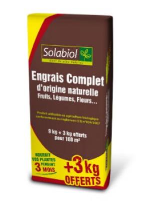 ENGRAIS COMPLET 9KG +3KG OFFERTS SOLABIOL
