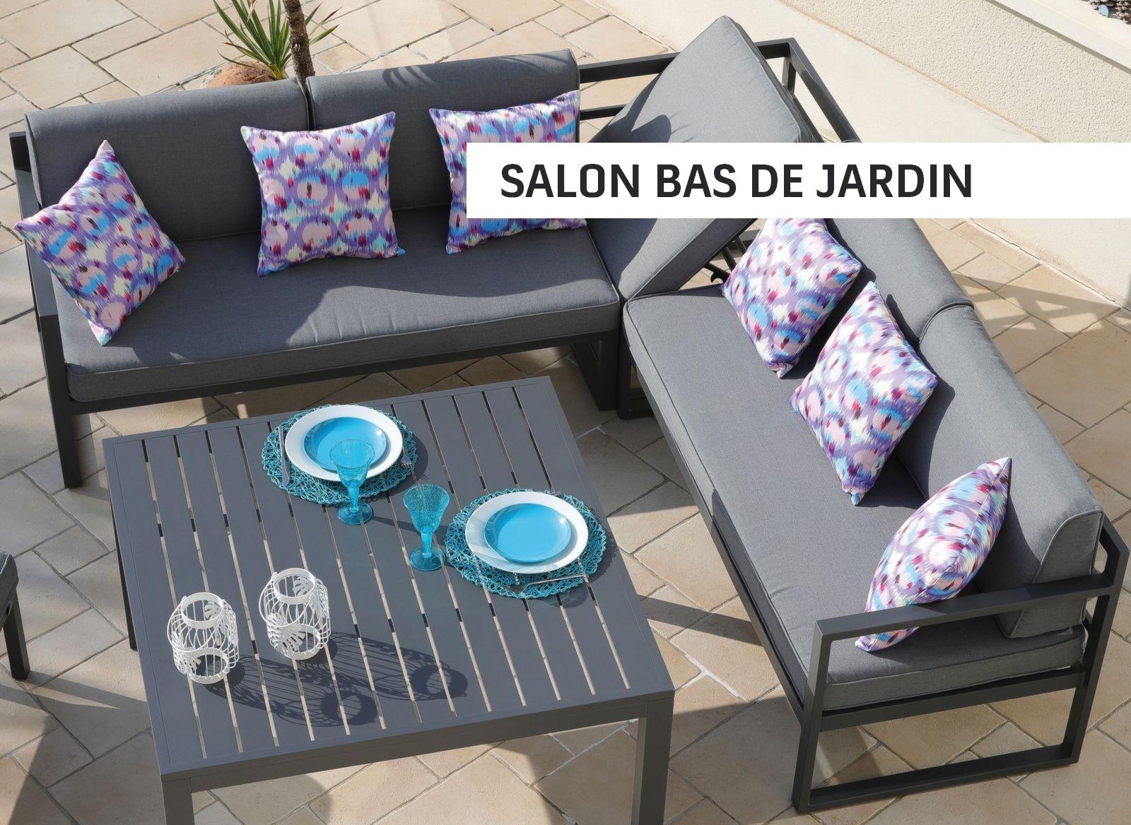 Salon bas de jardin