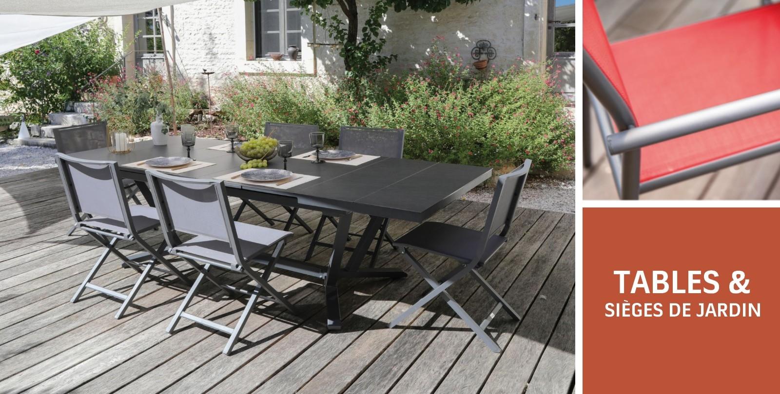 TABLES & sièges DE JARDIN