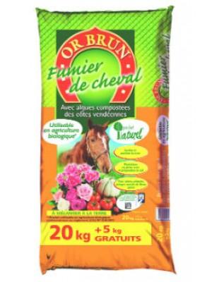 Fumier de cheval 20KG+5KG GRATUIT OR BRUN
