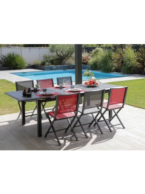ENSEMBLE ARIZONA + 6 CHAISES LEA