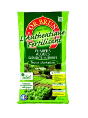 Authentique Fertilisant 40kg OR BRUN