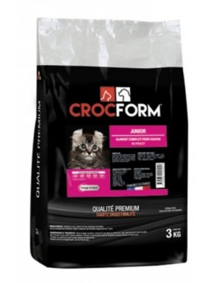 "Croquettes ""Premium Junior"" pour chat - 3 kg - CROCFORM"