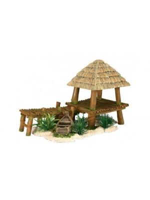 Décor ponton bambou