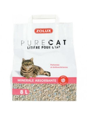 LITIERE PURE CAT MINERALE ABSORBANTE 8L ZOLUX