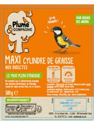 Maxi cylindre de graisse aux insectes