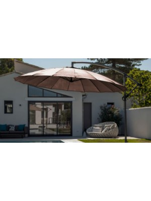PARASOL DEPORTE PAGODE Ø300CM TAUPE PROLOISIRS