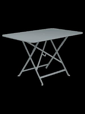 BISTRO TABLE PLIANTE 117X77  GRIS ORAGE