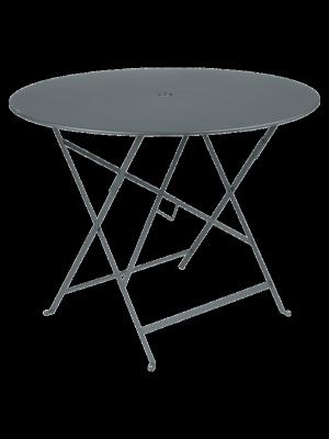 BISTRO TABLE PLIANTE D96  GRIS ORAGE