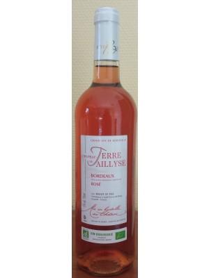 """Château de Terre Taillyse Bordeaux Rosé """"bio"""" 75 cl"""